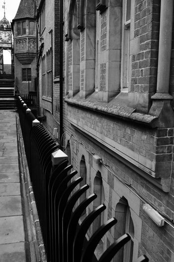 Walking the streets Chester England. Beautifully Organized Architecture Built Structure Building Exterior Day No People City Outdoors Chester EyeEm Masterclass Street Photography Architecture EyeEm Best Shots Chester Walls Black And White Getty X EyeEm Streetphoto_bw EyeEm Gallery Railings Architecture Photography EyeEm Architecture_collection Eye4photography  Historical Place Urban Exploration
