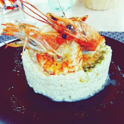 Riz Risotto Gambas Assiette Nourriture Food Foodcolor Eat Restaurant