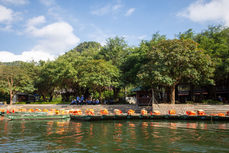 travel at Trang An, Ninh Binh, Vietnam Tree Water Plant Waterfront Sky Group Of People Nature Nautical Vessel Cloud - Sky Day Real People Transportation Large Group Of People Crowd Lake Mode Of Transportation Men Beauty In Nature Women Outdoors