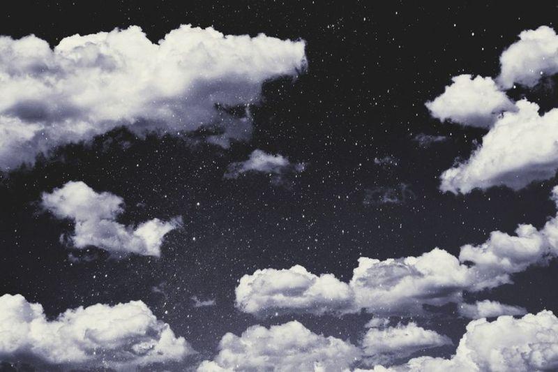 Céu E Nuvens Maravilhoso Noite Estrelas