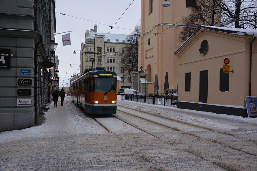 It's Cold Outside Bromma Sweden Tram Tramway Cityscape Winter Wintertime Snow Snow ❄ Sverige