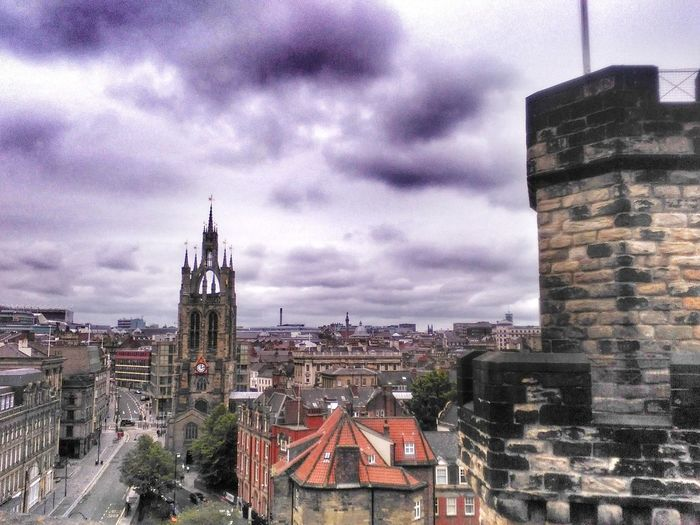 View over Newcastle EeYem Best Shots Cathederal EyeEmNewHere Newcastle Upon Tyne Castle Cityscape City Cityscape Urban Skyline Clock Tower Skyscraper Clock Tower Sky Architecture Building Exterior