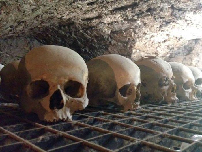 Death Graveyard No People Peaceful Silence Of Nature Skulls And Bones Tomb Underground Graveyard