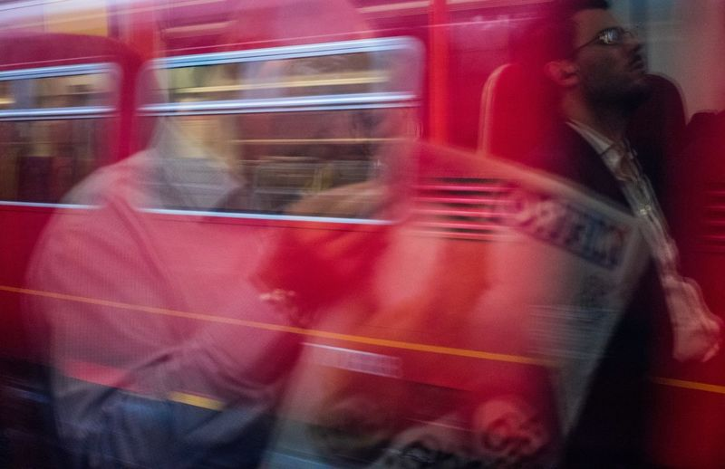 Commute Blurred Motion Red One Person Motion Real People Transportation Train - Vehicle Day People Commuting Commuter Routine London London Bound Daily Grind