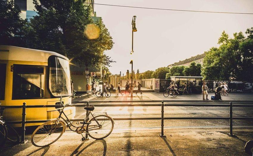 Pedestrians On Street In City