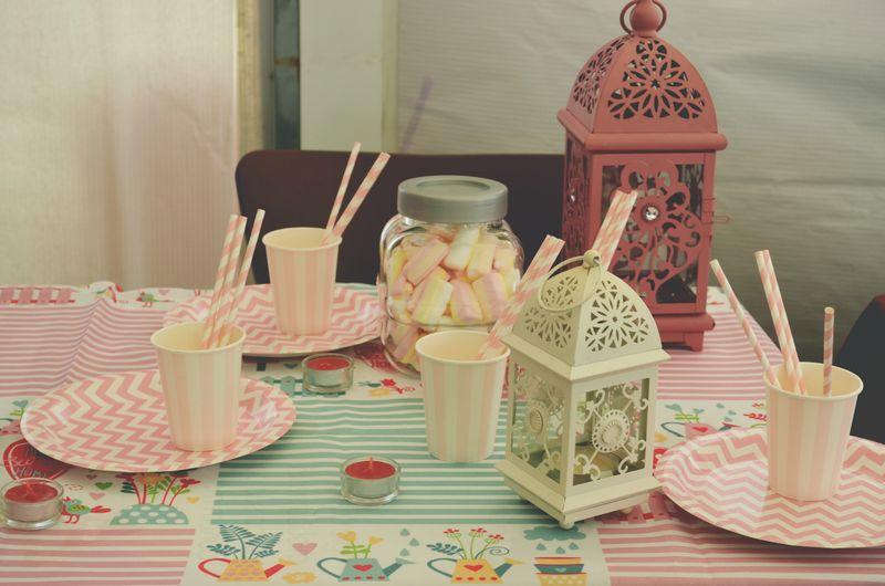 Various food on table