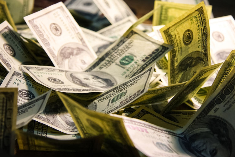 Currency Finance Paper Currency Business Wealth Savings Large Group Of Objects No People Investment Selective Focus Close-up Abundance Dollar Sign Paper Corporate Business Indoors  Retail  Making Money Economy