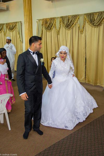 Bridegroom Wedding Ceremony Wedding Togetherness Love Husband Happiness Place Of Worship Beautiful Trinidad And Tobago Caribbean Muslimwedding Stillife Life Events Religion Wedding Dress Couple - Relationship
