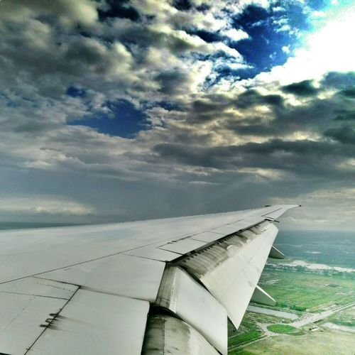 Fly High☁☁☁ Clouds And Sky Blue Sky Blue Green Greenland Beautiful View Mobile Editing Plane Window Window View On The Way Coming Home 😊😊😊