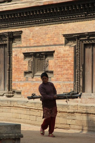 Architecture Built Structure One Person One Woman Only Nepalipeople😊 Traditional Clothing nepal travel