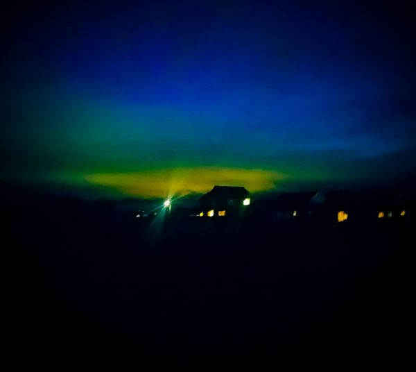 white light Glow Deep Blue Darkness Silhouette Yellow Nature Beauty In Nature Sky