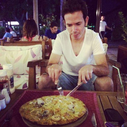 That's Me Dinner:) Eating Pizza