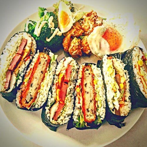 おにぎらず Onigirazu 朝ごはん Japanese  Japanesefood