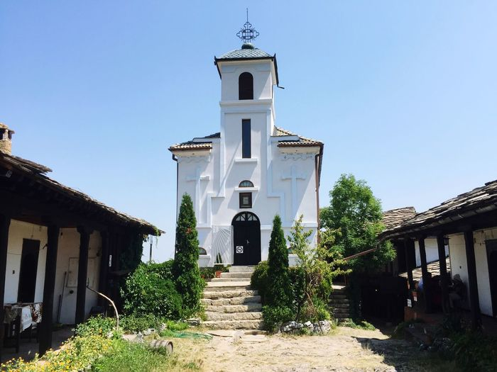 Exterior Of Glozhene Monastery Against Clear Sky