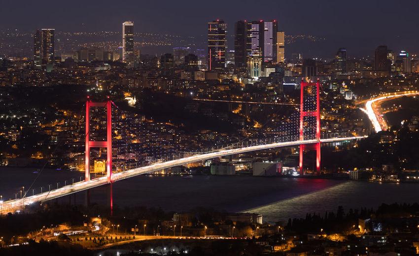 Bosphorus bridge in istanbul city, turkey