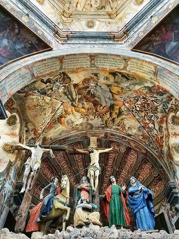 Crucifixion Viacrucis Church Atotonilco Mexico Fresco N Mural