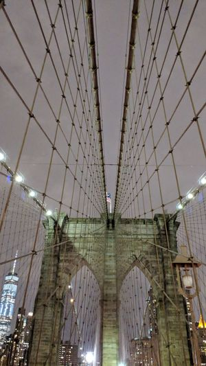 Brooklyn Bridge in New York Skyline Urban Skyline Night Skyline Brooklyn Bridge  New York New York City Brooklyn Night Nightphotography Night Photography Bridge Travel Travel Photography Travel Blogger American Flag Good Times Followme Pixelxl2