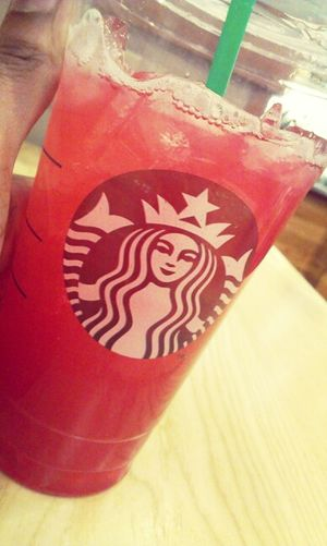 Venti Passion Tea Lemonade. At Work