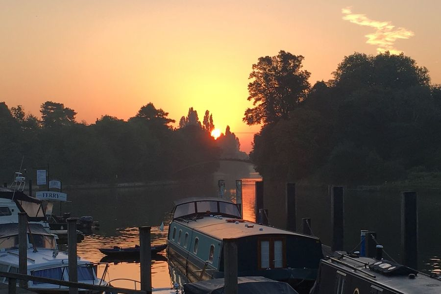 England Tree Sunset Built Structure Water Nautical Vessel Building Exterior Transportation Architecture For Thames River Outdoors Nature Sky No People Sea Beauty In Nature Day
