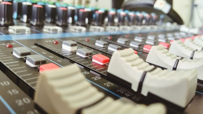 Faders Mixer Modern Workplace Culture Mixing Arts Culture And Entertainment Business Finance And Industry Music Close-up Sound Mixer Club Dj Recording Studio Sound Recording Equipment Connection Block Radio DJ Switch Dj Radio Station Audio Equipment Knob Producer Audio Electronics Amplifier Control Panel