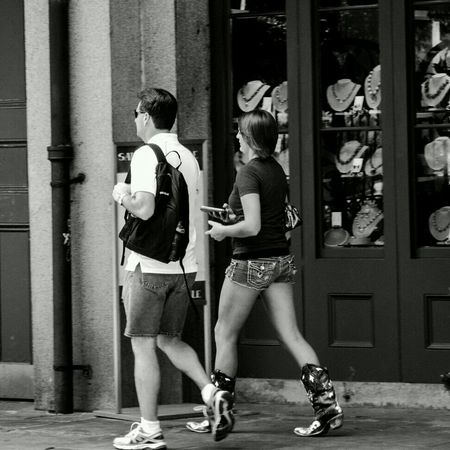 """These boots were made for walking..."" Streetphoto_bw EE_Daily: Black And White Streetphotography People Watching"