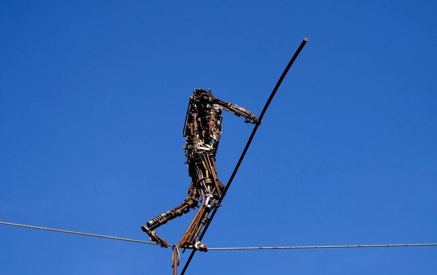 ArtWork Blue Buchheim Museum Clear Sky Outdoors Roboter Roboterkunst Sculpture Sky