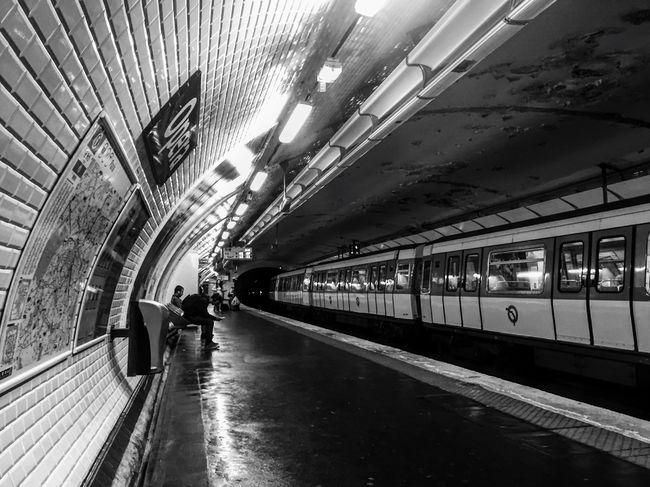 Paris Metro again Rail Transportation Paris, France  Paris Je T Aime Metro Metro Station Tube Summer16 Love Dark Underground