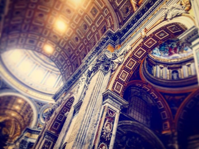 Architecture Architecture Bright Built Structure Church Coulourful Light Religion Rome SanPietro Sightseeing Travel WOW