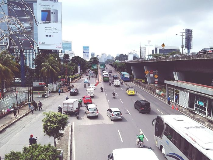 Morning traffic in jakarta