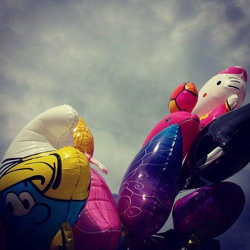 Hellokitty Balloon Smurfette  Wasserfest leipzig