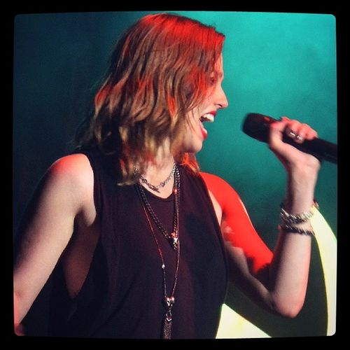 @officiallzzyhale at clearfield pa!!! :) Halestorm