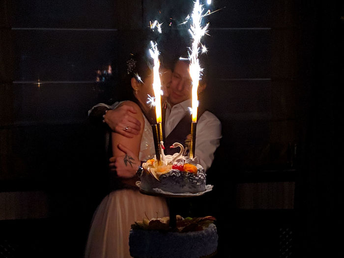 Togetherness Mobile Photography Light And Shadow Celebrated Celebration Event Two People Hugging Perspective Portrait Lights In The Dark Focus On Foreground Wedding Cake Newlyweds Fashion Emotions Tenderness Party - Social Event Sweet Food Cupcake Dessert Cake Cakestand Chocolate Cake Slice Of Cake Cheesecake Sponge Cake Muffin Whipped Cream Donut Pastry