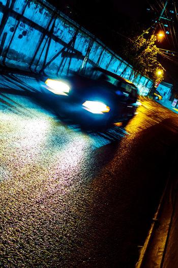 记得当年,灯昏小巷,总有一间,夜半食堂 night Night Transportation No People Road Street Glowing Light Car Streetlight The Way Forward Outdoors