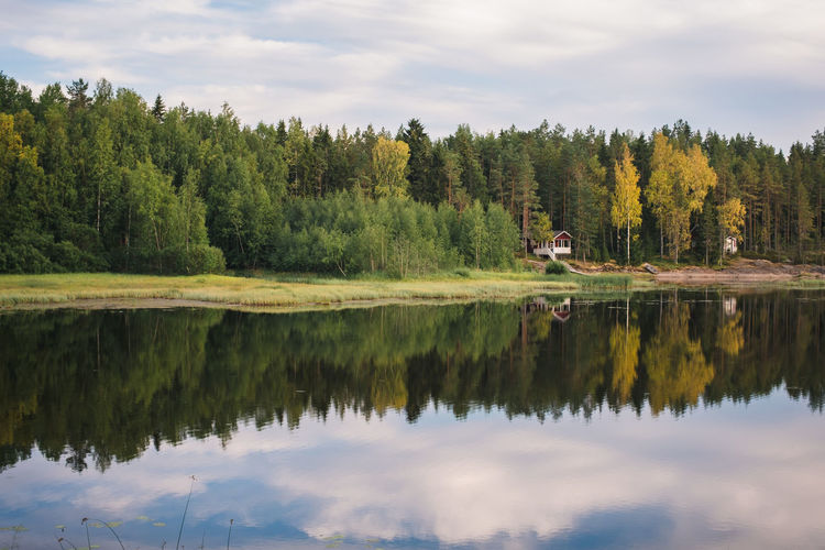 Baltic Finland Green Nature Nature Photography Reflection Trees Wood Blue Europe Flora Lake Landscape North Outdoors Road Trip Sea Sky Sunset Symmetry