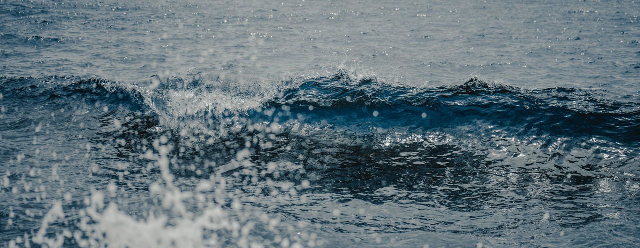 Backgrounds Beauty In Nature Blue Close-up Day Environment Full Frame High Angle View Motion Nature No People Outdoors Power In Nature Purity Rippled Scenics - Nature Sea Splashing Water Waterfront Wave