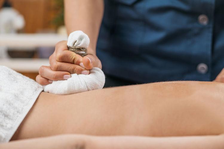 Ayurveda herbal bundle kizhi bolus bag massage