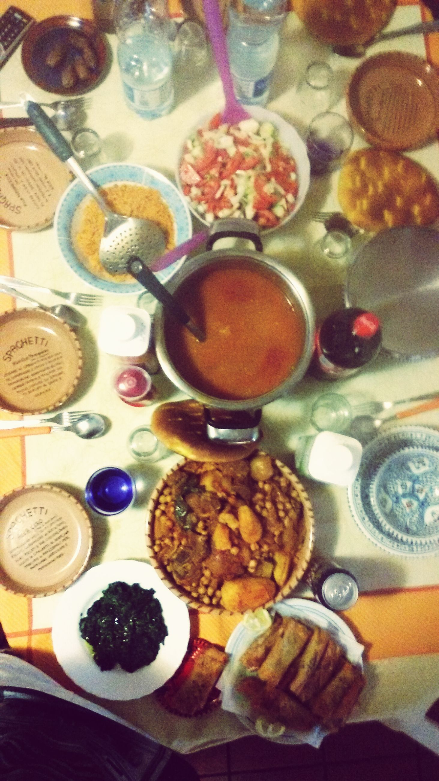 indoors, food and drink, table, food, still life, freshness, high angle view, plate, sweet food, ready-to-eat, dessert, indulgence, variation, bowl, fruit, cake, spoon, drink, unhealthy eating