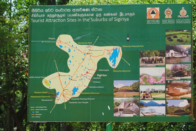 sigiriya map Sri Lanka Place Where Sita Was Held Captive Sigiriya, Sri Lanka,Asia,Travel,Explore, Traveler, Lion Rock, Sigriya Rock Sigiriya Sigiriya Rock Sigriya King Ravana's Palace Close-up Information Signboard Directional Sign