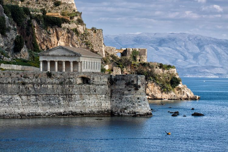 The Old Fortress with the Church of St. George. Water Sea Mountain Architecture Nature Rock Day Rock - Object Solid Scenics - Nature Built Structure Beauty In Nature Building Exterior Sky Rock Formation Land No People Outdoors Building Fortress Fortress Wall Church Church Architecture
