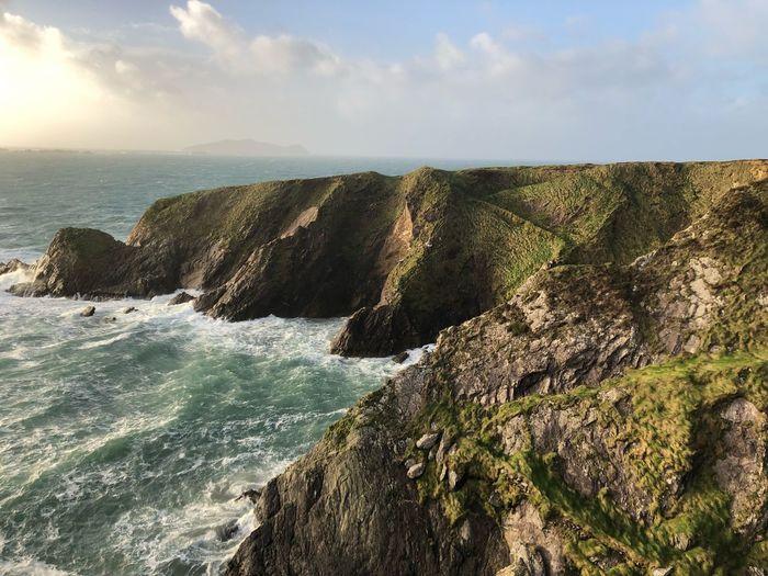 Ireland🍀 Horizon Land Wave Rock Nature Day No People Cloud - Sky Motion Sunlight Breaking Aquatic Sport Outdoors