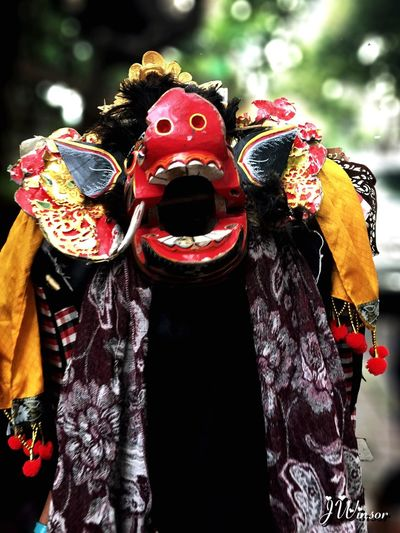 Mystical monster Costume Celebration Performing Arts Event Close-up Outdoors Bali, Indonesia Tropical Climate