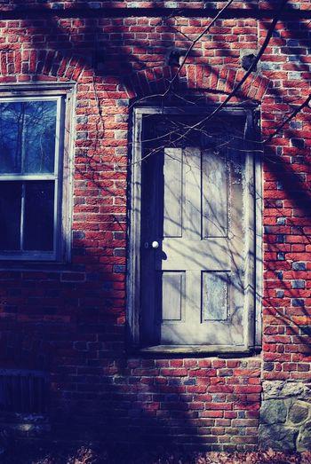 Old door with