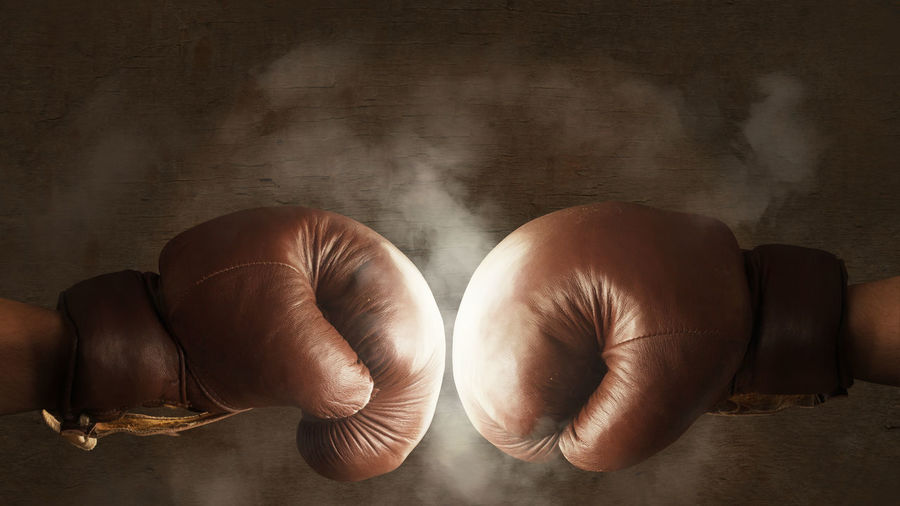 Boxing gloves fighting