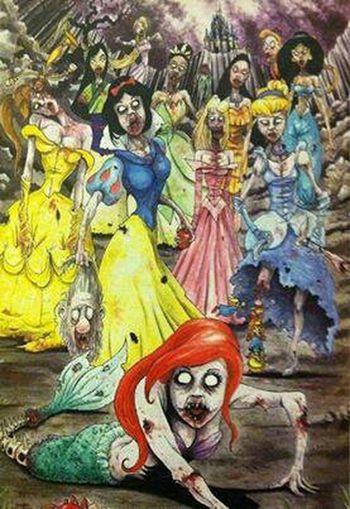 Disney <3 Zombie Beautiful Princess Gorey