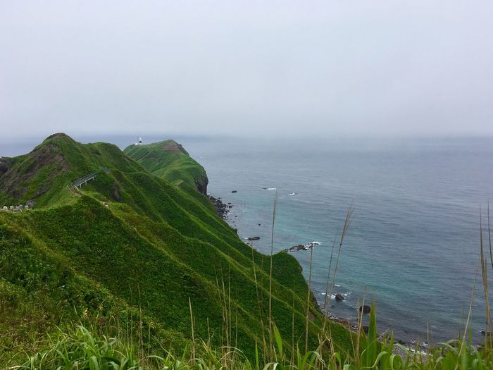Point Of View Landscape Horizon Water Sea Scenics - Nature Tranquil Scene Nature Land Outdoors Horizon Over Water Fog Tranquility Green Color