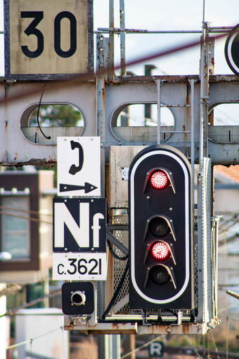 Low angle view of traffic signal
