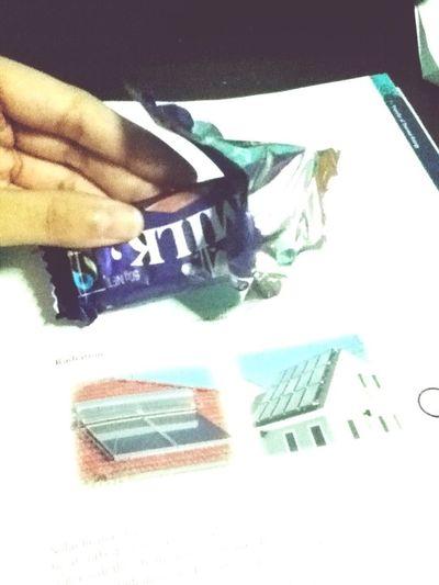 Having cadbury while studying physics