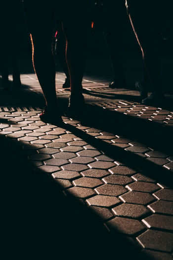 Real People Group Of People Low Section Human Body Part Human Leg People Body Part Unrecognizable Person Standing Men Lifestyles Day Pattern Leisure Activity Sunlight Footpath Outdoors Street Human Limb