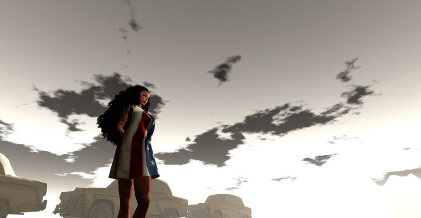 Clearing my head, feeling the Breeze.... - China Goddess Digital Art Labor Day Weekend Secondlife Secondlifeavatar Sky Sky And Clouds