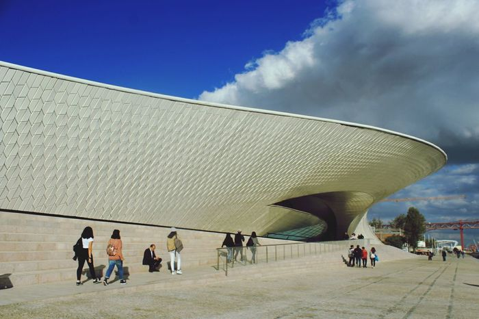 Portuguese MAAT museum. Museum of Art Architecture and Tecnology really cool architecture. Museum Museum Of Modern Art Architecture City Tourism Outdoors People Day Museum Architecture Portuguese Architecture Portuguese Streetphotography Travel Destinations Canonphotography Museum Photography